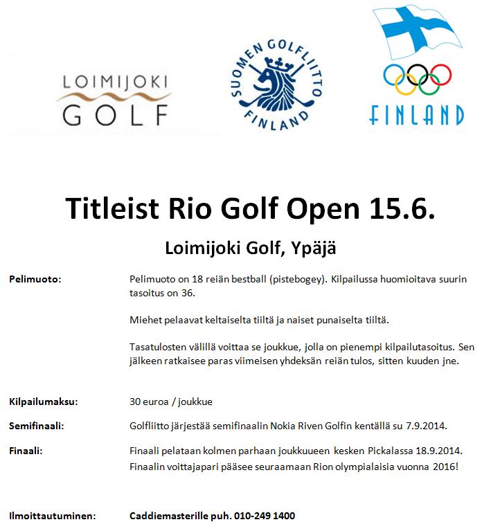 Titleist Rio 2014